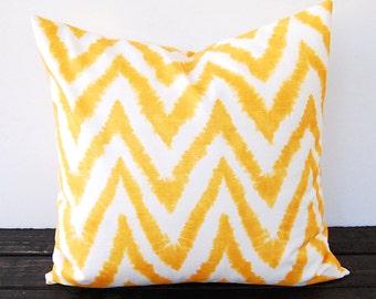 Yellow pillow cover throw pillow covers mustard yellow cushion pillow sham yellow home decor zig zag chevron