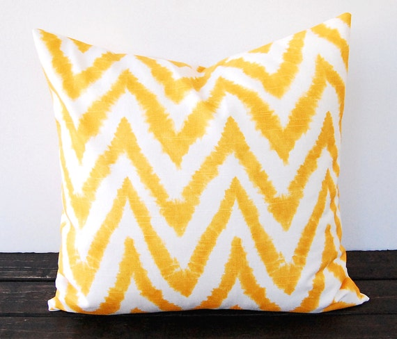 Etsy Yellow Throw Pillow : Yellow pillow cover 16 x 16 throw pillow covers by ThePillowPeople