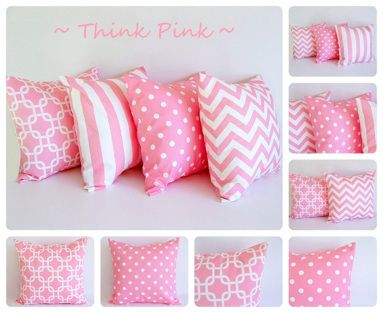 Decorative Pillow Pink : Pink pillow cover One cushion cover baby pink and white throw