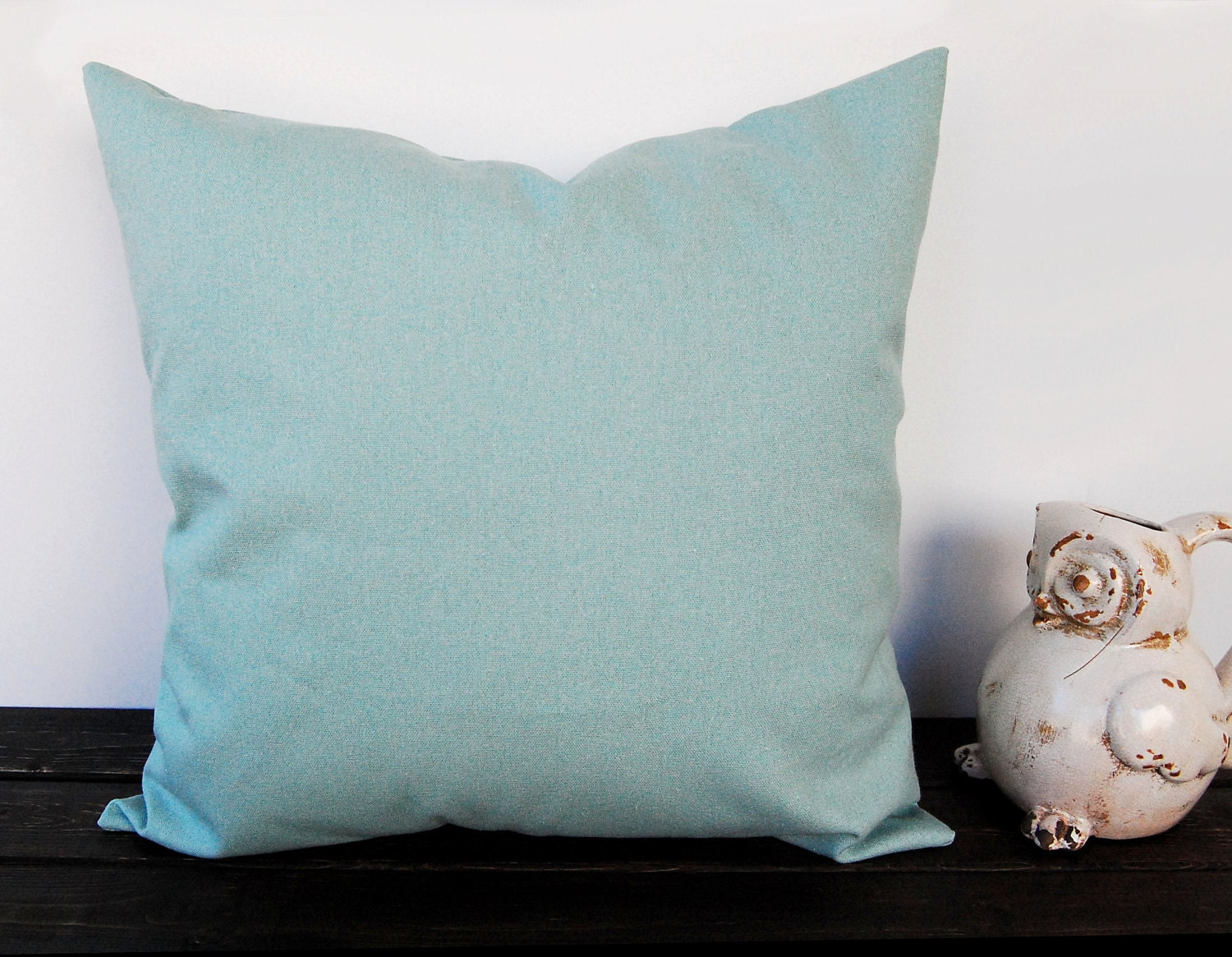 Village blue throw pillow cover One smokey blue cushion colors