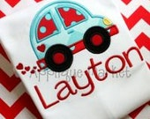 Car, Love bug, Valentines Day, Valentines Day Car, Applique, Embroidery