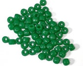 939 green pony beads, plus extra (total 1363)