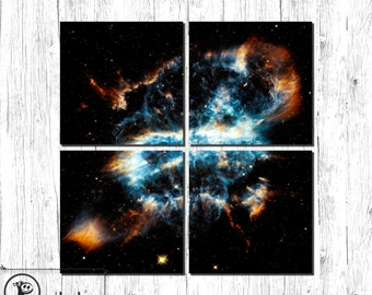 Space, Universe photography, Planetary Nebula, Dying Star, Large gallery wrap Canvas art, large wall art space, wall decor