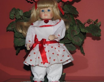 Porcelain A Collectors Edition Valentine Doll by Brinn 1993