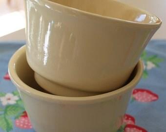 Vintage Yellow Haeger Bowls or Flower Pots
