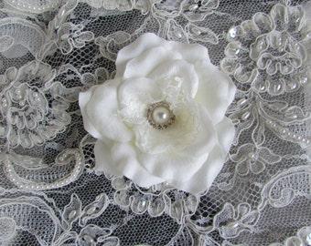 SALE Wedding Hair Accessory, Bridal Headpiece, Silk Flower Hair Clip By MODARAGE