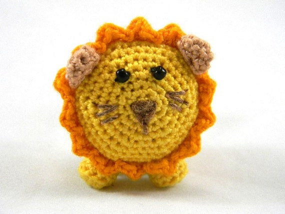 Miniature Crochet Lion, Amigurumi Stuffed Toy, Mini Amigurumi Crochet ...