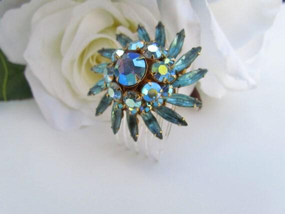 Tiffany Blue Bridal Hair Comb, Wedding Hair Comb Blue, Blue Bridal Hair Accessories, Aqua Blue Wedding, Tiffany Blue Wedding Jewelry