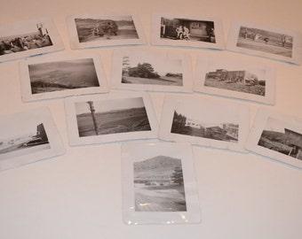 Vintage Photos, 40's Pictures, Black and White Photos, Korean War Photography, Set of 12 Vintage Korean War Photos, Black and White Pictures