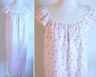 White Nightgown, Size Medium, Sears Women's Vintage Nightgown, Ladies' Gown