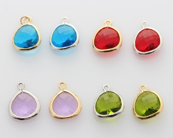 Add Crystal, Saphiry, Ruby, Purple, olive Add charm to your jewelry