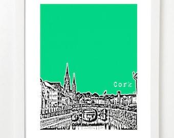 Cork Ireland Art - Cork City Ireland Skyline Poster - Cork Poster