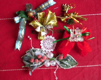 Vintage Christmas Ornaments - Corsages, Supplies, Gift Decorations