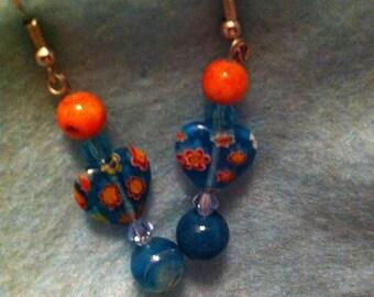 Blue and orange hearts