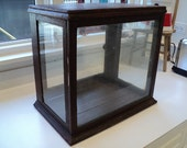 General store jewelery bakery counter top display cabinet Victorian oak Vintage