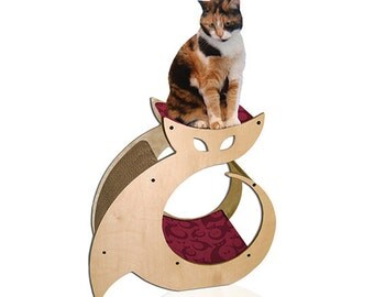 Cattino – Cat Shaped Scratching Post with Cat Bed & Perch