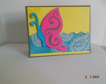 Fluttering By To Say Hi Butterfly Card