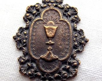 Bronze Blessed Sacrament Holy Eucharist Medal