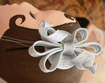 Loops & Bow Fascinator in Ice Blue