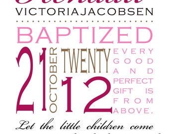 Child/Baby Blessing, Baptism, Christening