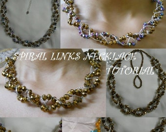 Spiral Links NecklaceTutorial