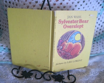 HC Book SYLVESTER BEAR Overslept 1979, Wahl Children's Story, Vintage Childrens book, Vintage Book, Easy Reader Book, Learning to read, :)s