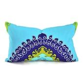 Schumacher Paradise Lumbar Pillow Cover - Pick Your Size, 12x16, 12x18 or 12x20