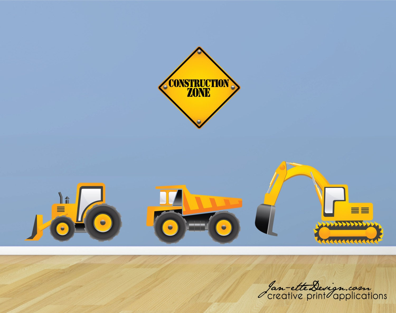 Truck wall decals construction truck wall stickers zoom amipublicfo Images