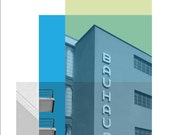 Architecture Poster, Retro Poster, Bauhaus, Architectural Print, Mid century Modern, Set of three prints