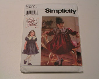 Simplicity Pattern 9377 Rare Editions Child Dress