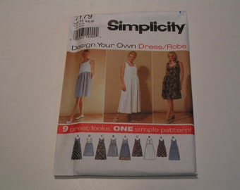 Simplicity Pattern 7179 design your own Dress