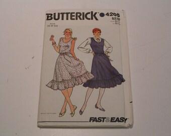 Vintage Butterick Pattern 4205 Miss Dress Jumper and Belt