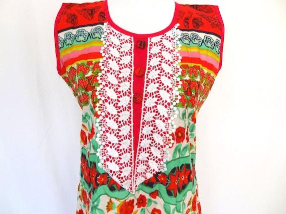 Gypsy Folklore Bohemian Lace & Patchwork Dress/Size LRG.