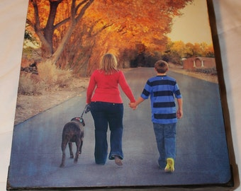 8 x 10 thick sided custom canvas photos, made to order with YOUR photos