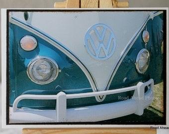 ACEO, ATC, VW Van, classic car, Artist Trading Card