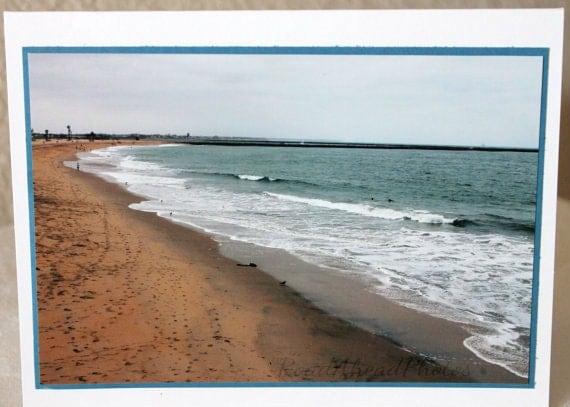 photo card, Seal Beach, California, Pacific Ocean, beach
