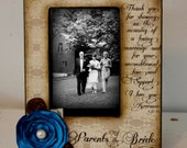 Parents of the Bride Picture Frame Vintage Gift Keepsake Wedding Party 5x7