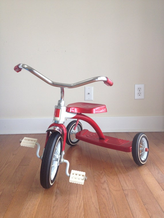 Vintage Amf Junior Childs Red Tricycle Vintage Red Three