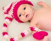 Crochet Valentine Elf Hat for Infants
