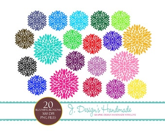 INSTANT DOWNLOAD Blooming Blossoms Clipart - Commercial Use- Scrapbooking - Clip Art