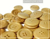 10 Buttons 1 Inch Wooden Buttons with 4 Holes