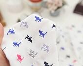 "Cotton Jersey Knit Cats per Yard (70 x 36"") 34412"