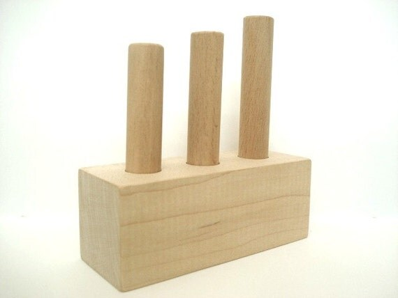 Wooden Montessori Toy - Peg Block - All Natural Toy - Eco Baby Toy