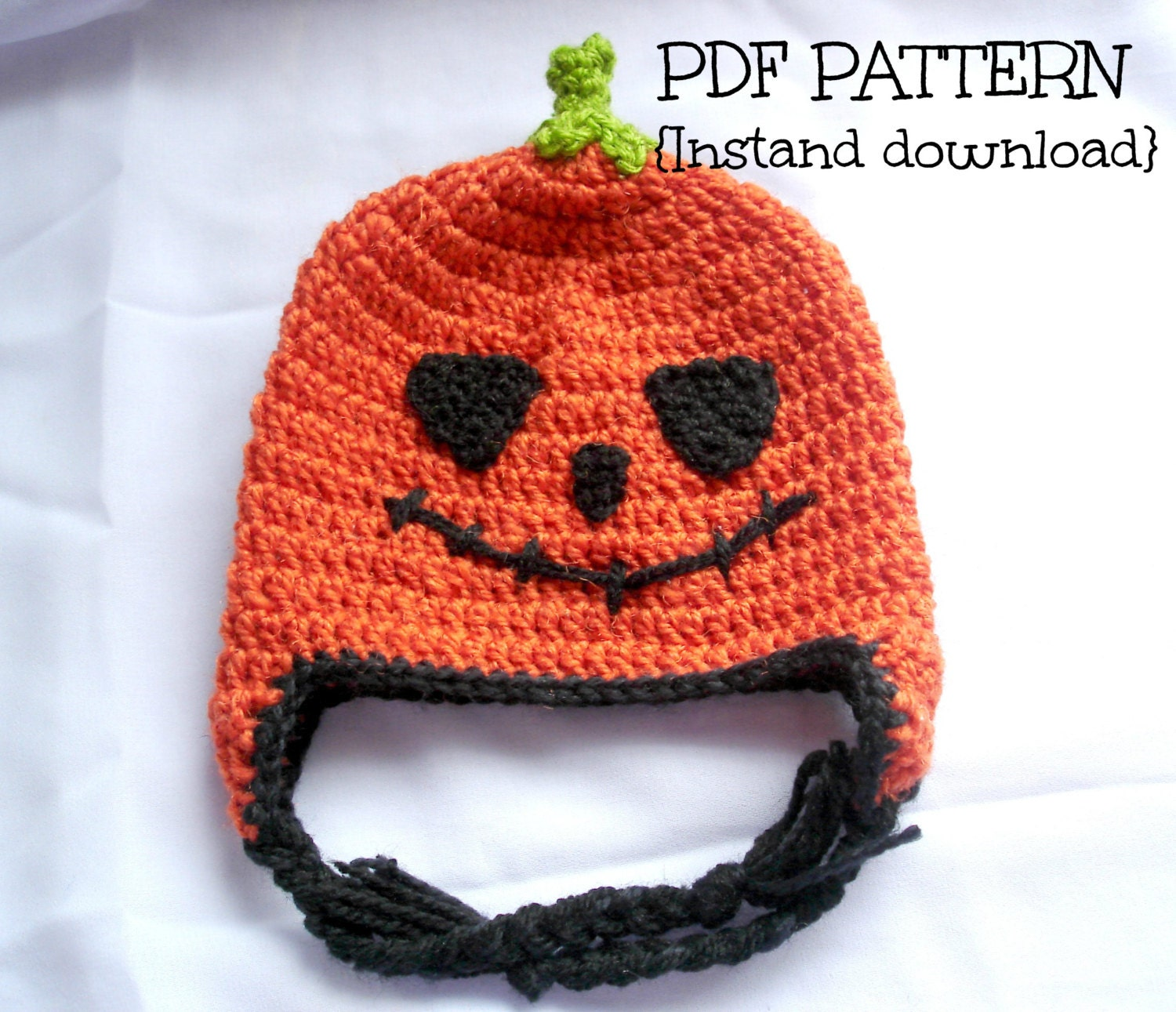Free Crochet Hat Patterns For Halloween : Crochet hat pattern crochet Halloween hat pumpkin by ...