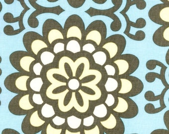 1 yard Amy Butler Lotus Fabric - Blue - Wall Flower Sky AB17