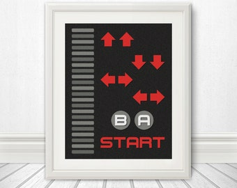Nintendo, Nintendo Art,  The Code For Contra Art Print , Retro, Video Game