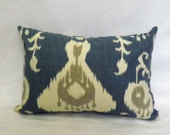 Decorative Pillow Cover, Ikat Lumbar Pillow Cover - 12x16,12x18, 12x20, 12x24, Toss Pillow, Throw Pillow Cover, Accent Pillow, Sofa Pillow