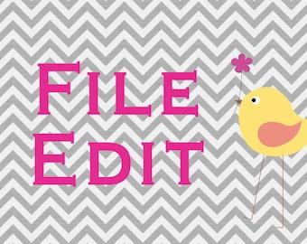 File Edit Listing
