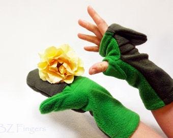 Custom Glittens Convertible Mittens Fingerless Gloves Unisex Two Colors