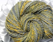 Reserved for Barbara - Handspun Yarn - Ink - Falkland wool, Heavy Worsted Weight, 340 Yards